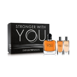 Emporio Armani Stronger With You for Men with Because Its You for Women Set
